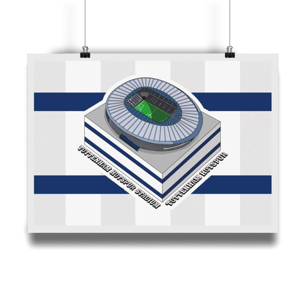Tottenham Hotspur Stadium Hallowed Turf Football Stadium Illustration Print