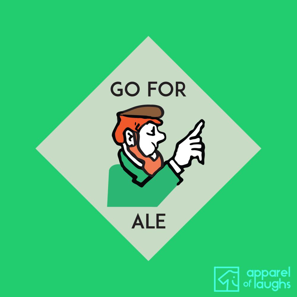 Go For Ale Beer Monopoly Jailer Board Game Men's T-Shirt Design Antique Jade