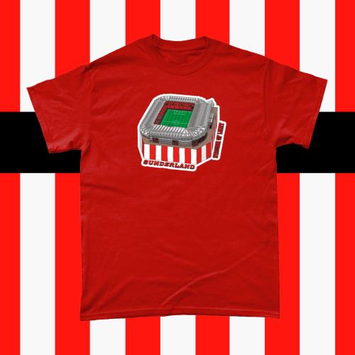 Sunderland Stadium of Light Football Illustration Men's T-Shirt Red