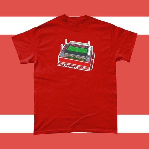 Swindon Town The County Ground Football Illustration Men's T-Shirt Red