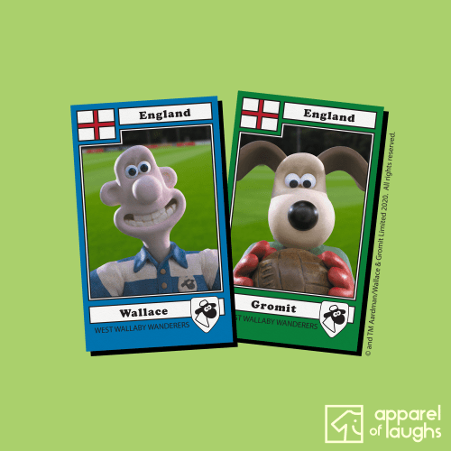Wallace and Gromit England Football Stickers Aardman Men's T-Shirt Design Kiwi