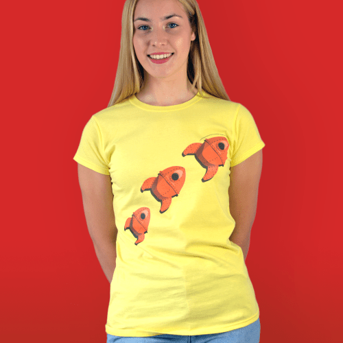Wallace and Gromit Grand Day Out Rocket Aardman Women's T-Shirt
