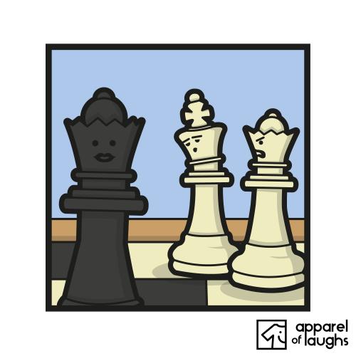 Chess Meme Queen's Gambit Distracted Boyfriend T-Shirt Design White