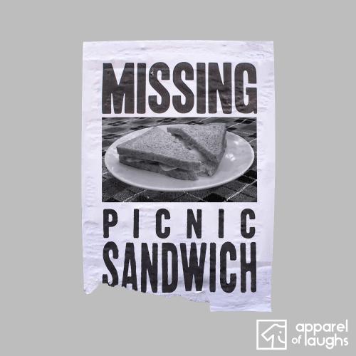Sandwich Short of a Picnic T-Shirt Design Sports Grey