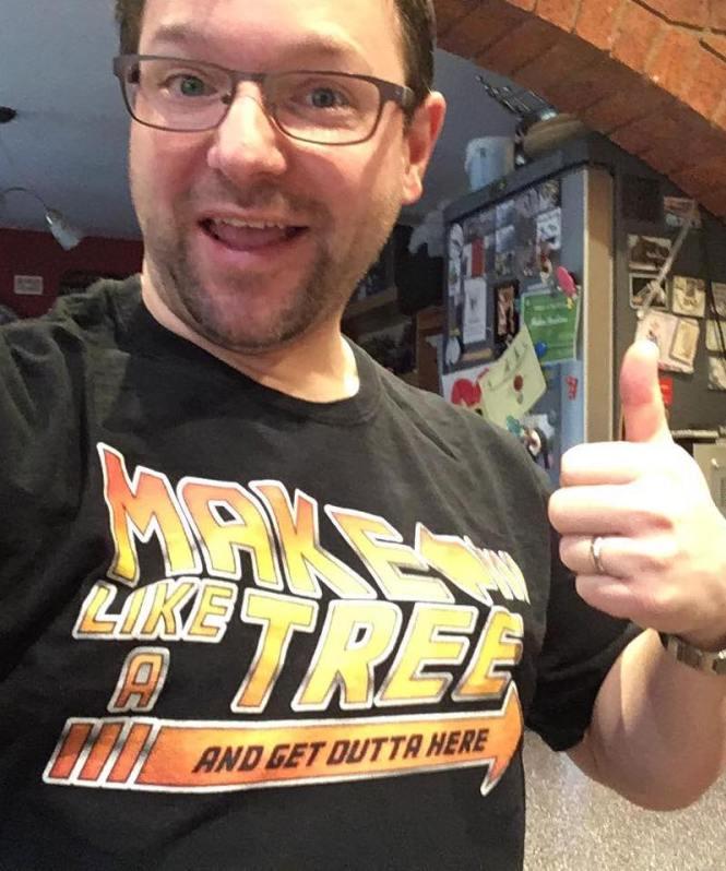 Matt Back to the Future Make Like A Tree T-Shirt