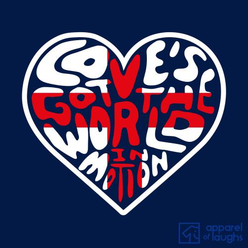 Love's Got the World in Motion New Order England Football John Barnes Men's T-Shirt Design Navy