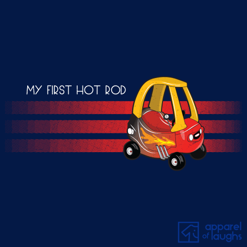 My First Car Cozy Coupe Hot Rod T-Shirt Men's Navy