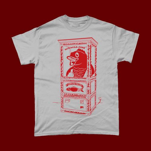 Red Fortune Teller Fish Machine Cracker British T-Shirt Men's Sports Grey