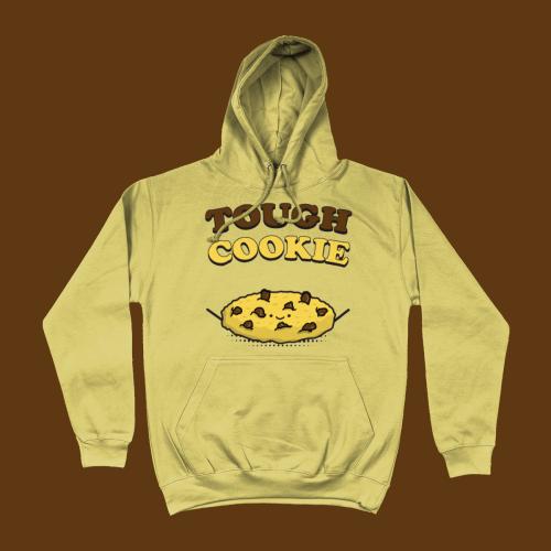 Tough Cookie British Cute Food Hoodie Sand