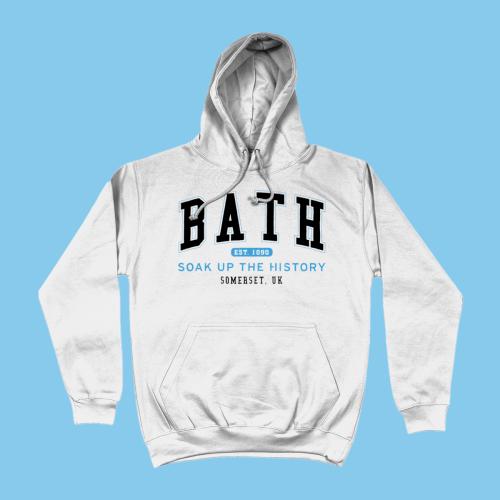 Bath City Men's Apparel Women's Hoodie British Places White