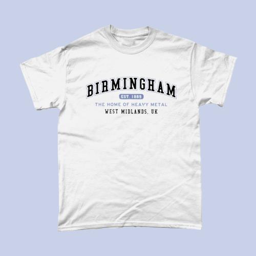 Birmingham City Men's T-Shirt Women's Fashion British Places White copy