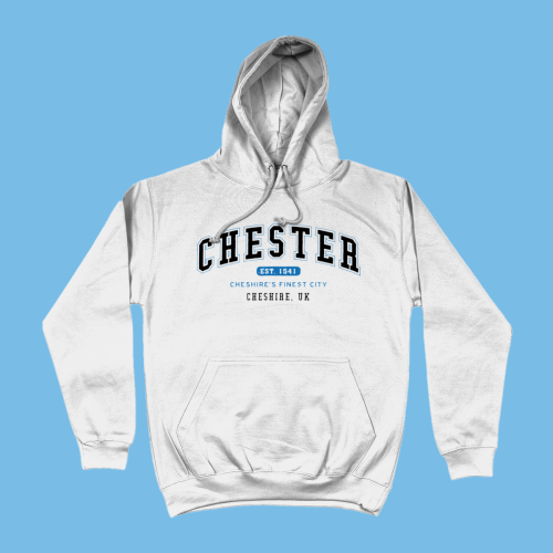 Chester City Men's Apparel Women's Hoodie British Places White