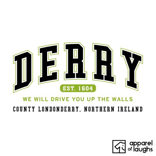 Derry City Men's T-Shirt Women's Hoodie British Places White