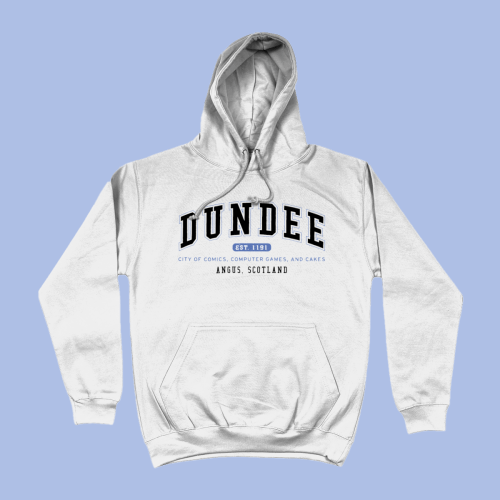 Dundee City Men's Apparel Women's Hoodie British Places White
