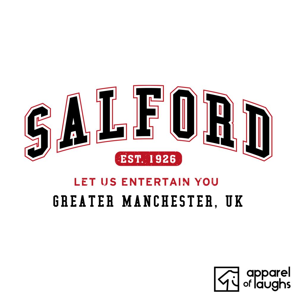 Salford City Men's T-Shirt Women's Hoodie British Places White