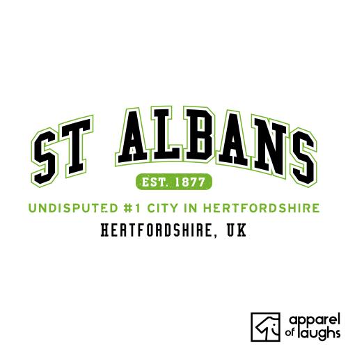 St Albans City Men's T-Shirt Women's Hoodie British Places White