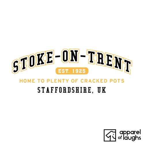 Stoke-on-Trent City Men's T-Shirt Women's Hoodie British Places White