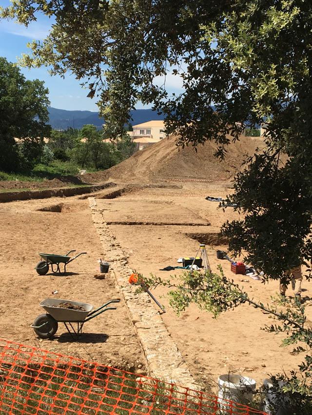 détail fouilles maubec villa romaine montélimar
