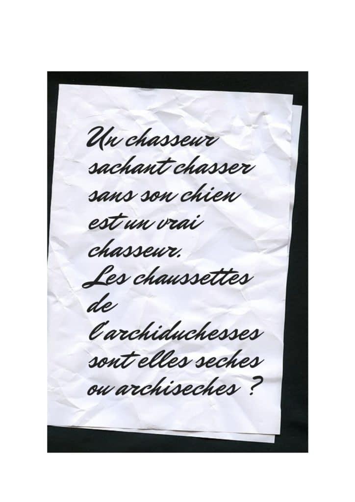 virelangue français