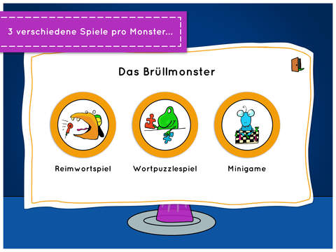 Monsters Behave! - je drei Minispiele