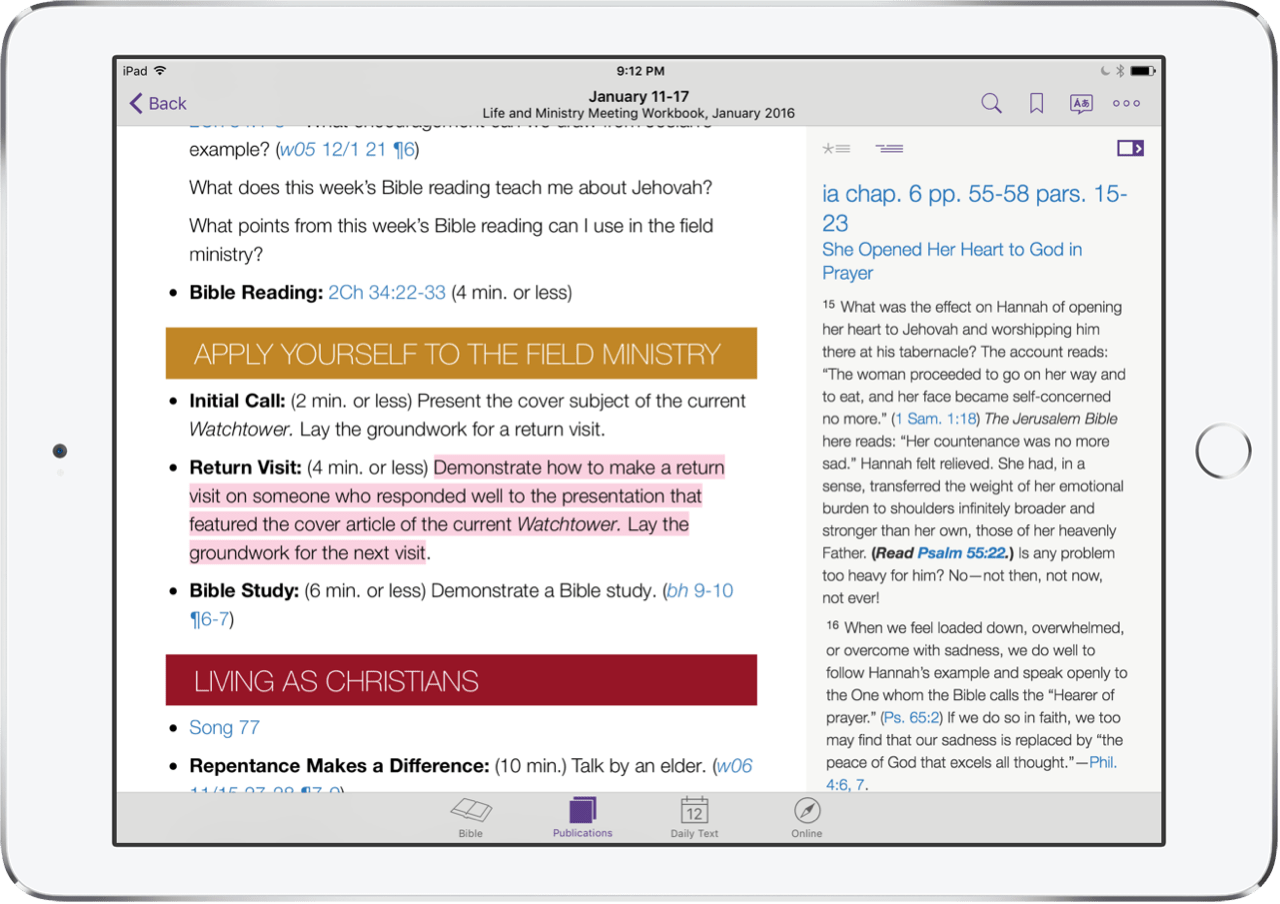 How to Use the JW Library App Part 2: Publications, Music, and