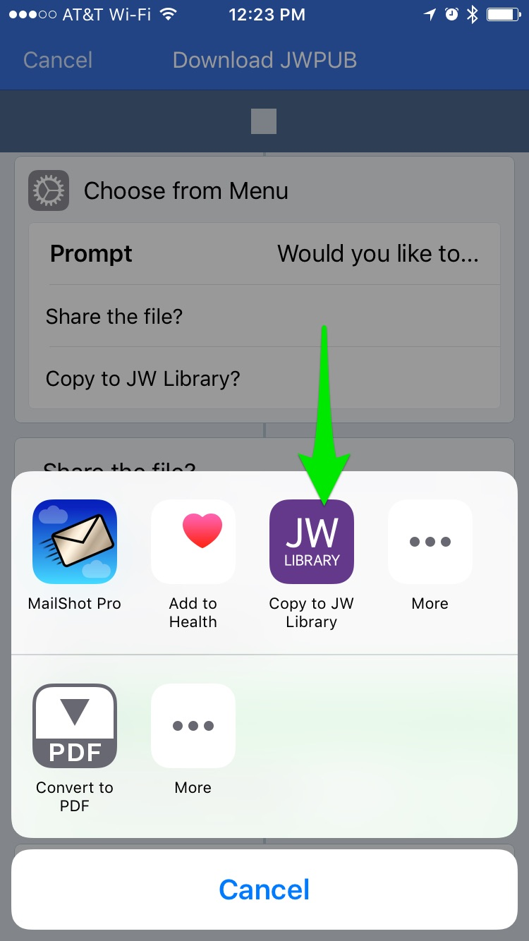 How to Import JWPUB files from JW.org into JW Library using Workflow ...