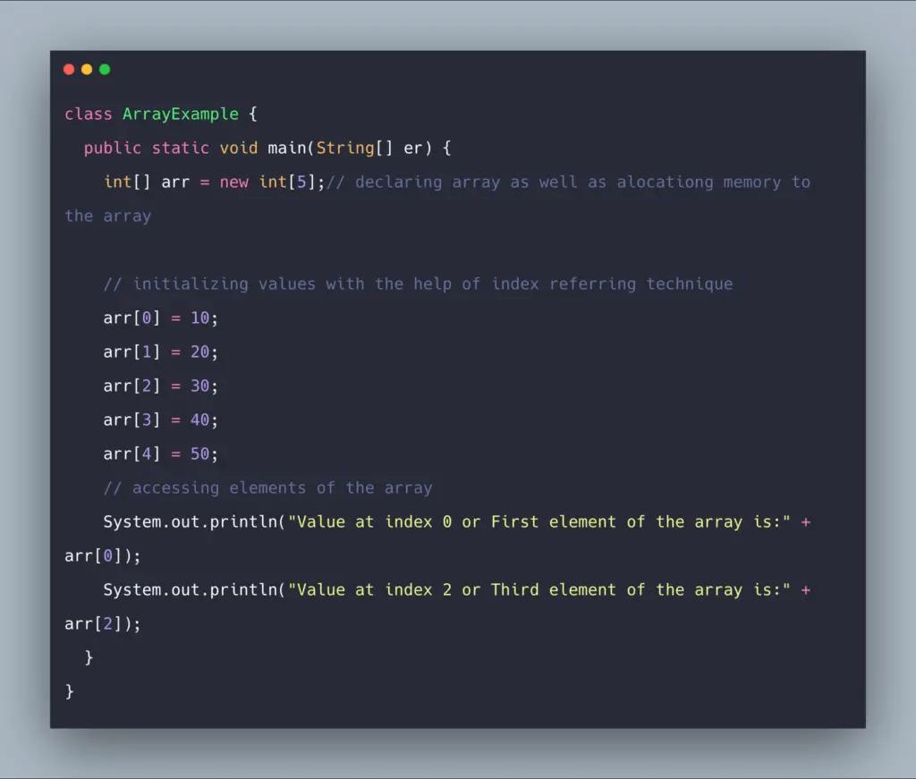 Java Arrays Example