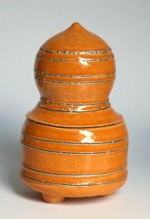 Potje in oranje met zilveren accenten