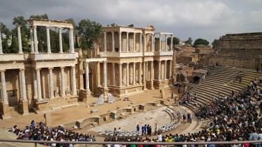 Het Romeinse theater in Merida is nog voor een groot deel in tact.