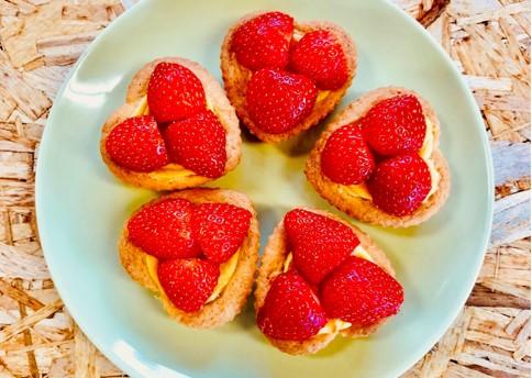 aardbeien slofjes