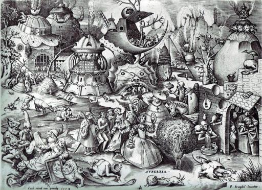 Pieter Bruegel the Elder – The Seven Deadly Sins or the Seven Vices – Pride