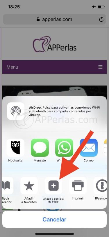 Añade el icono de APPerlas a tu iPhone