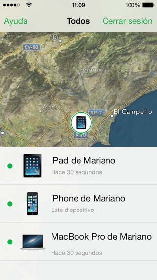 Buscar mi iPhone ios 7