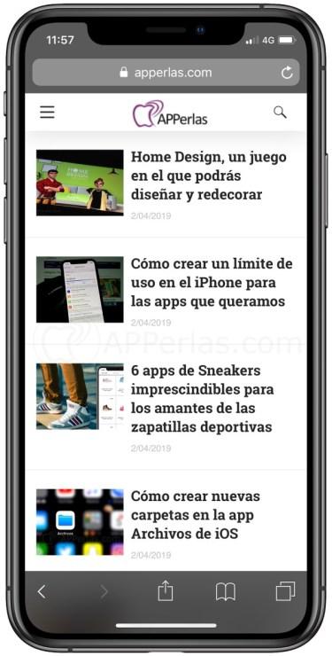 Modo privado en Safari de iOS