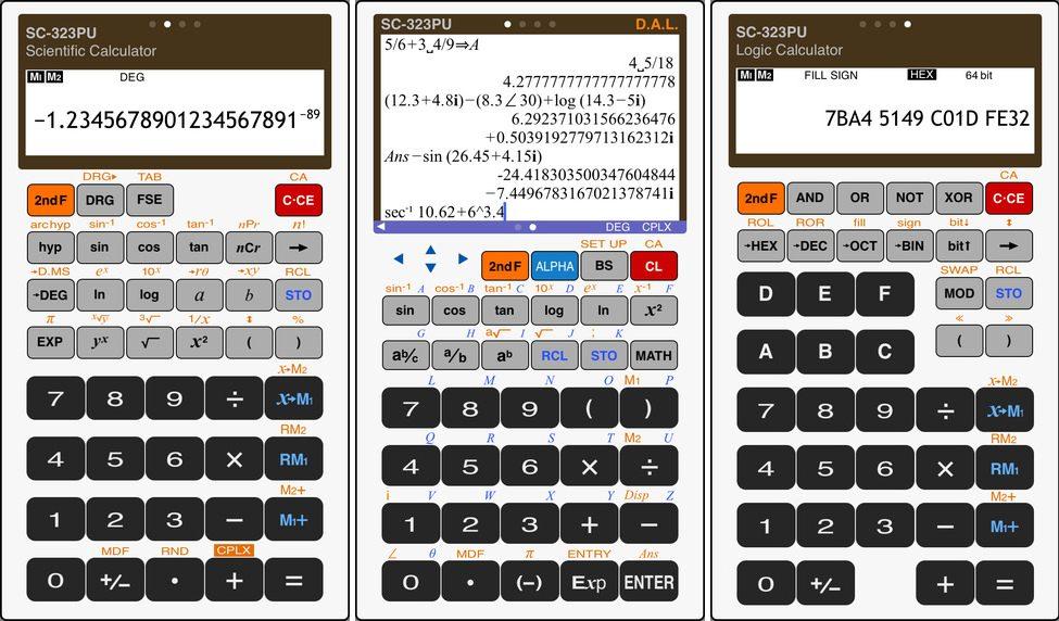 Calculadora cientifica compo