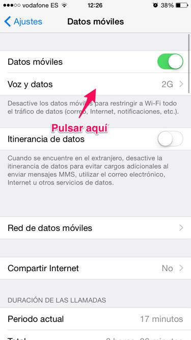 batería en iOS 8.3 2