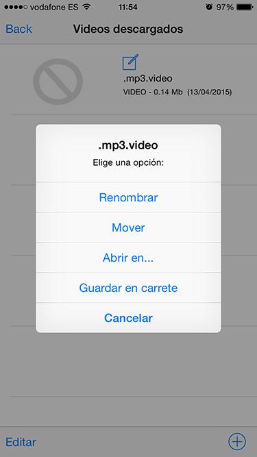 audio de los vídeos 4