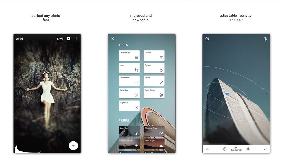 Snapseed 2.0.2 app edición fotográfica