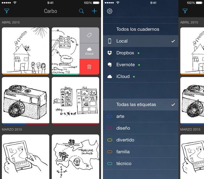 App Carbo imágenes