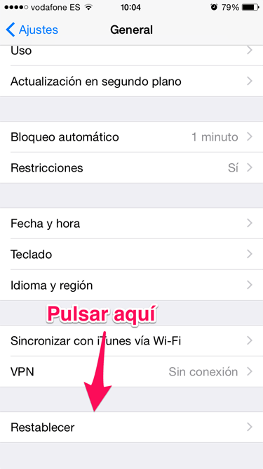 restaurar el iPhone 2