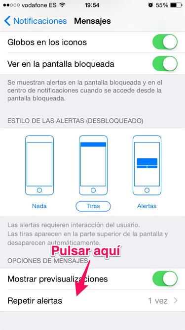 notificación de iMessage 2