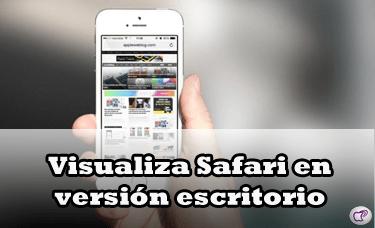 Safari en versión escritorio