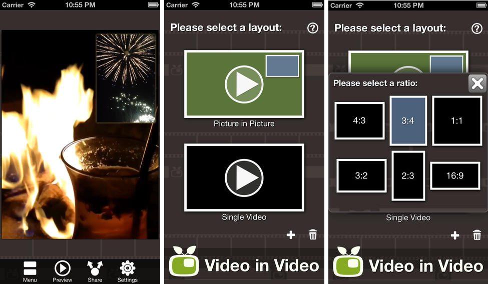 Video in video compo