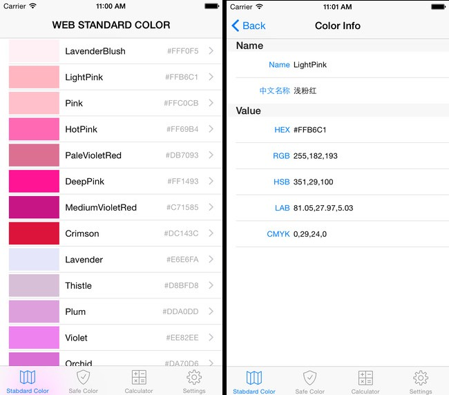 Color preview app