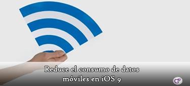 consumo de datos móviles en iOS 9