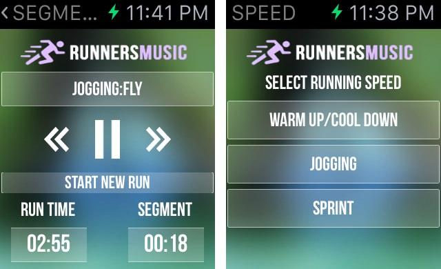 Running music trainer watch