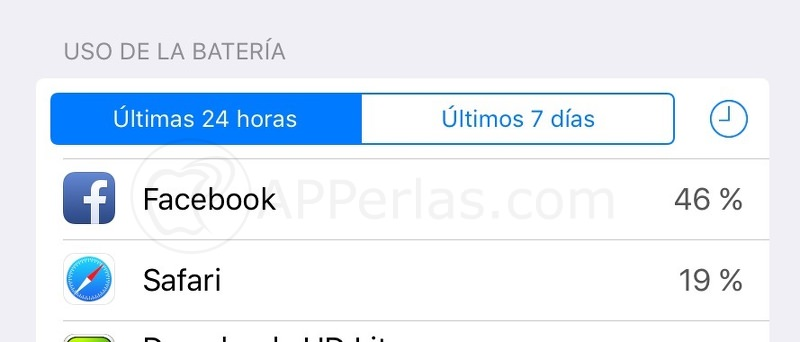 Facebook bateria