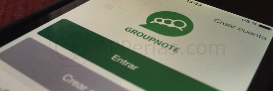 Groupnote app mensajes grupos