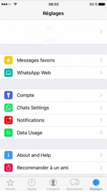 Rediseño de Whatsapp iOS