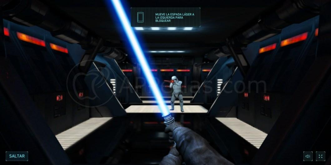 Espada laser en iPhone